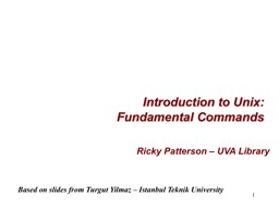 1 Introduction   to  Unix: