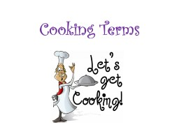 Cooking Terms Cutting Terms