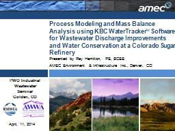 Process Modeling and Mass Balance Analysis using KBC WaterTracker