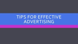 Tips for Effective Advertising