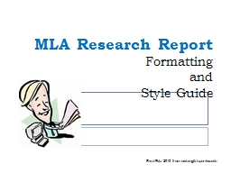 MLA Research Report  Formatting