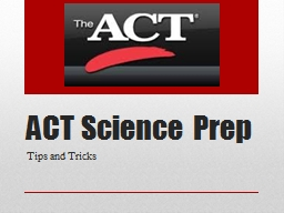ACT Science Prep Tips and Tricks