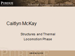 Caitlyn McKay Structures and Thermal
