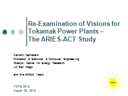 Re-Examination of Visions for Tokamak Power Plants –