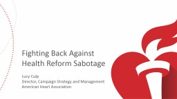 Fighting Back Against Health Reform Sabotage