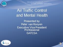 Air Traffic Control and Mental Health