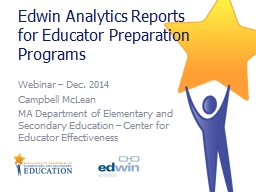 Edwin Analytics Reports for Educator Preparation Programs
