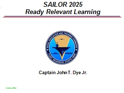 SAILOR 2025 Ready Relevant Learning