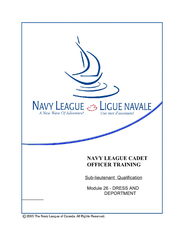 NAVY LEAGUE CADET OFFICER TRAINING Sublieutenant Quali PowerPoint PPT Presentation