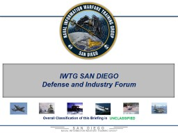 IWTG SAN DIEGO Defense and Industry Forum