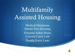 Multifamily Assisted Housing