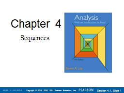Chapter  4 Sequences Section