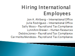 Hiring International Employees PowerPoint PPT Presentation