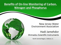 Benefits of On-line Monitoring of Carbon, Nitrogen and Phosphorus