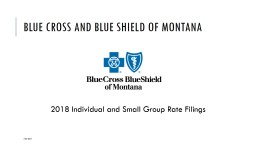 BLUE CROSS AND BLUE SHIELD OF MONTANA