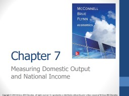 Chapter  7 Measuring Domestic Output and National Income
