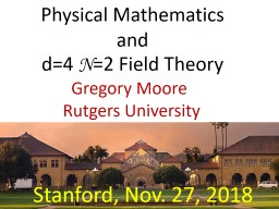 Physical  Mathematics and