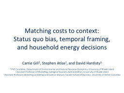 Matching costs to context: PowerPoint PPT Presentation