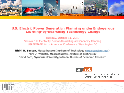 U.S. Electric Power Generation Planning under Endogenous Learning-by-Searching Technology Change