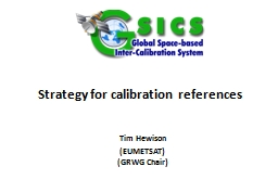 Strategy for calibration references