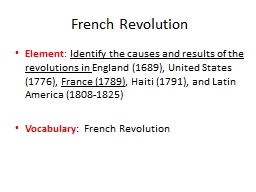 French Revolution Element