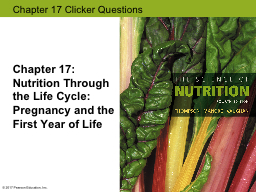 Chapter  17:  Nutrition