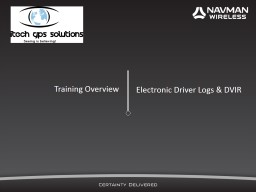 Training  Overview Electronic Driver Logs & DVIR