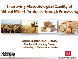 Improving the Microbial Safety of Wheat Flour through non-thermal Pre-Milling Interventions