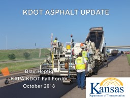 Blair Heptig KAPA/KDOT Fall Forum