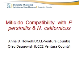 Miticide  Compatibility with