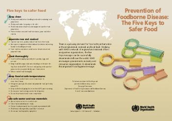 Avenue Appia   Geneva  Switzerland Prevention of Foodborne Disease The Five Keys to Safer Food To learn more about the Five Keys and potential collaborations contact Franoise Fontannaz Department of F