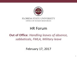 HR Forum Out of Office :