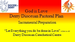 God is Love Derry Diocesan Pastoral Plan