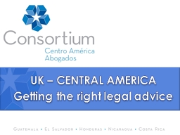 UK – CENTRAL AMERICA Getting