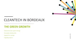 CLEANTECH IN BORDEAUX THE GREEN