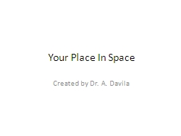Your Place In Space Created by Dr. A. Davila