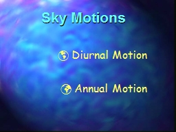Sky Motions   Diurnal Motion