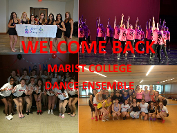 WELCOME BACK MARIST COLLEGE