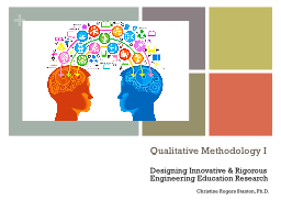 Qualitative Methodology I