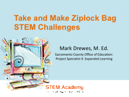 Take and Make  Ziplock  Bag STEM Challenges