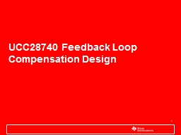 UCC28740 Feedback Loop Compensation Design