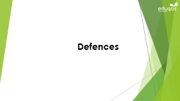 Defences Lesson Objectives