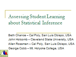 Assessing Student Learning about Statistical Inference