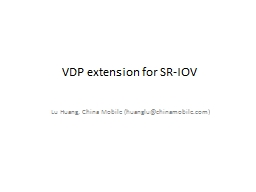 VDP extension for SR-IOV