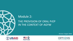 Module 2:  THE PROVISION OF ORAL
