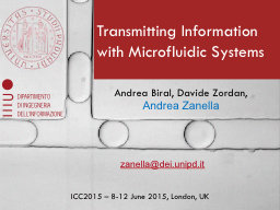 Transmitting Information with Microfluidic Systems