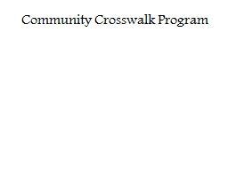 Community Crosswalk Program