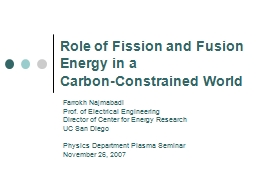 Role of Fission and Fusion Energy in a
