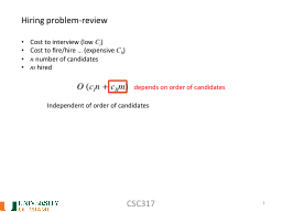 CSC317 1 Hiring  problem-review