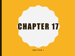 Chapter 17 Section 1 Focus Question